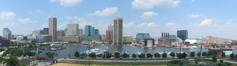 Panorama view of Baltimore, MD, where Mark Beckwith went for the annual Society of Pediatric Dermatology Meeting